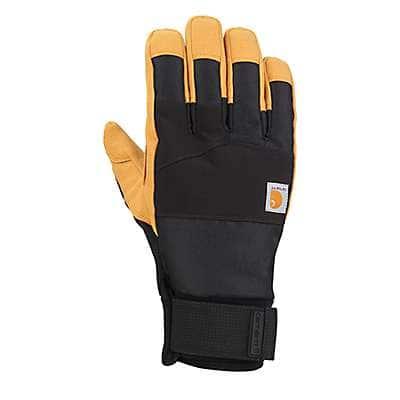 Carhartt Men's Black Barley Stoker Insulated Glove - front