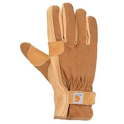 Carhartt Men's Brown Chore Master Work Glove - front