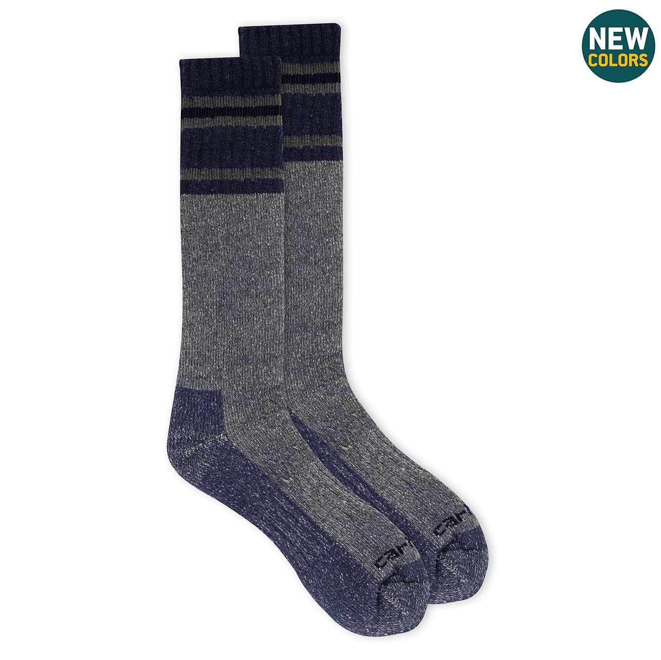 Picture of Heavy Duty Thermal Crew Boot Sock 2 Pack in Denim Heather