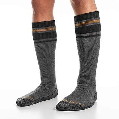 Carhartt Men's Gray Heavy Duty Thermal Crew Boot Sock 2 Pack - front
