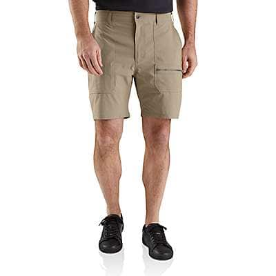 "Carhartt Men's Dark Khaki/Brown Hurley x Carhartt Men's 8"" Work Shorts - front"