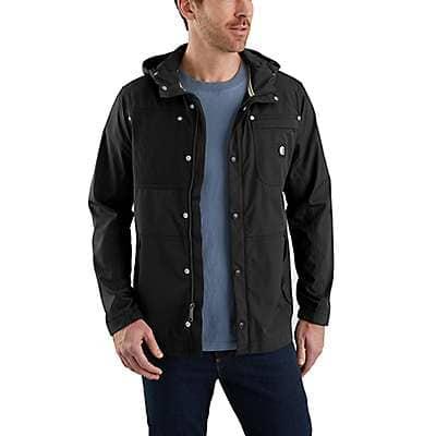 Carhartt Men's Black Hurley x Carhartt Men's Jacket - front