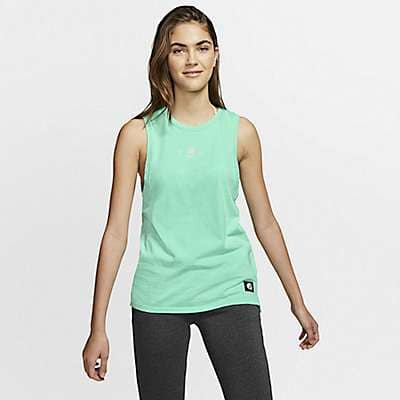 Carhartt Women's Tropical Twist Hurley x Carhartt Women's Biker Tank Top - front