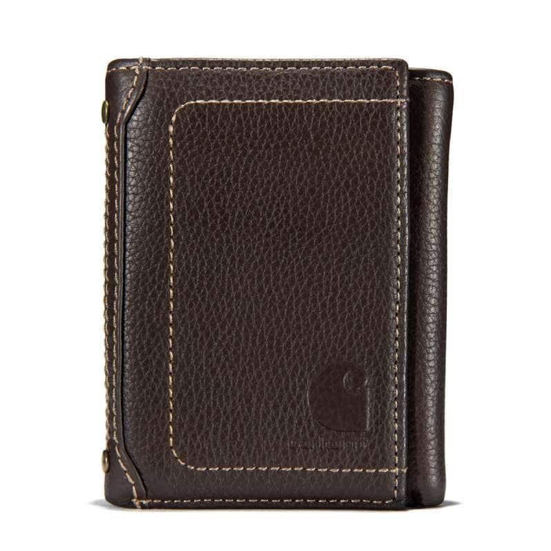 Carhartt  Dark Brown Milled Pebble Trifold Wallet