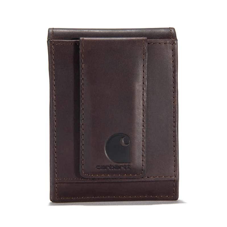 Carhartt  Dark Brown Oil Tan Front Pocket Wallet