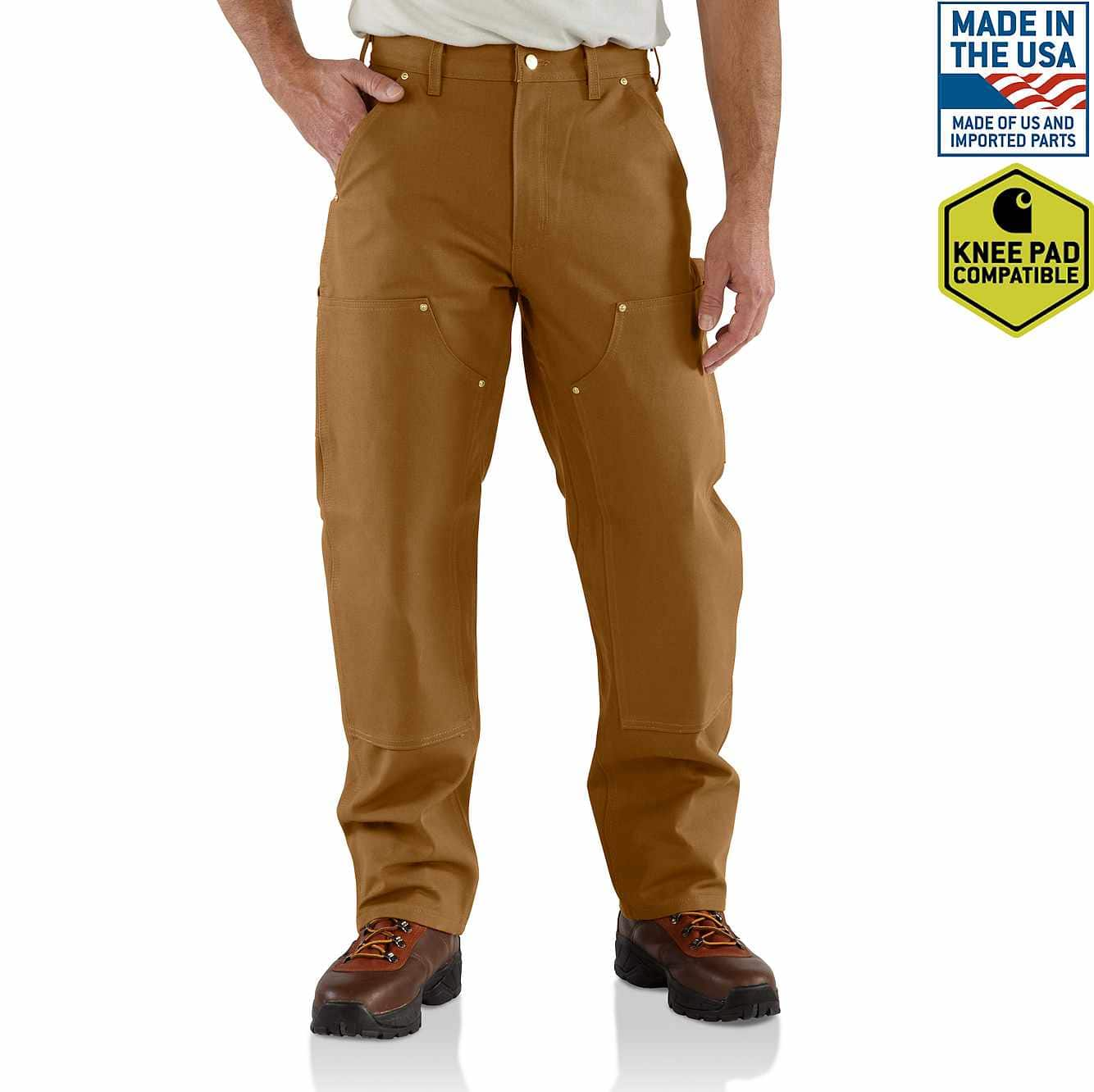 Picture of Firm Duck Double-Front Work Dungaree in Carhartt Brown