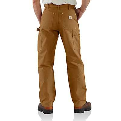 Carhartt Men's Carhartt Brown Firm Duck Double-Front Work Dungaree - back