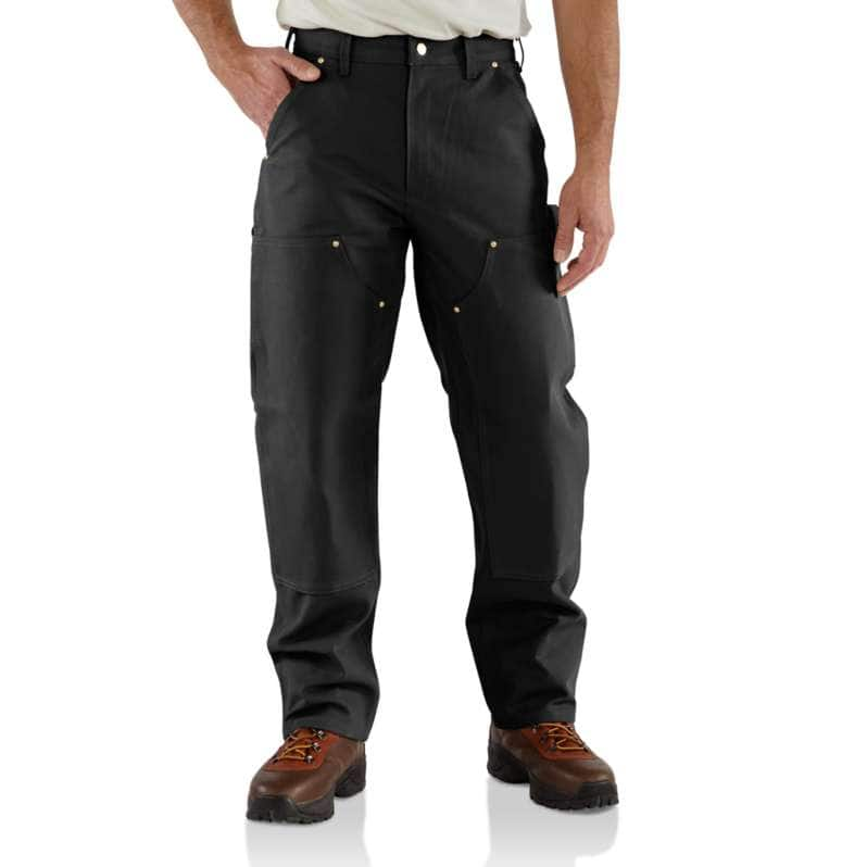 Carhartt  Black Loose Fit Firm Duck Double-Front Utility Work Pant