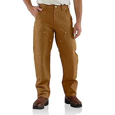 Carhartt Men's Carhartt Brown Loose Fit Firm Duck Double-Front Utility Work Pant
