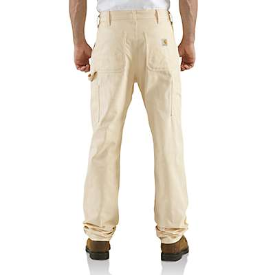 Carhartt Men's Natural Double-Front Drill Work Dungaree - back