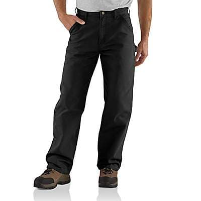 Carhartt Men's Black Loose Fit Washed Duck Utility Work Pant