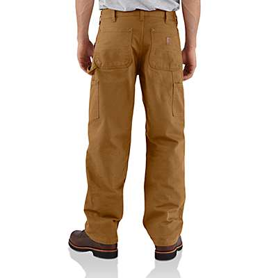 Carhartt Men's Dark Brown Washed-Duck Double-Front Work Dungaree - back