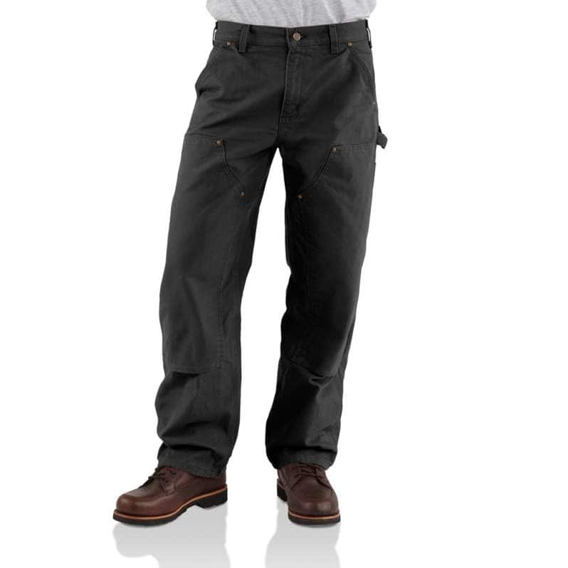Carhartt  Black Loose Fit Washed Duck Double-Front Utility Work Pant