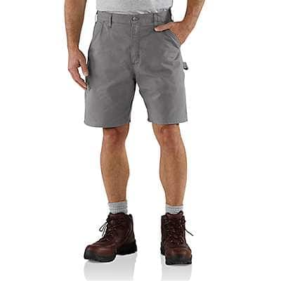 Carhartt Men's Asphalt Canvas Cell Phone Work Short - back