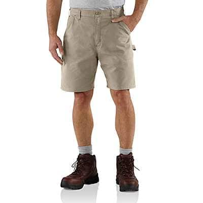 Carhartt Men's Asphalt Canvas Cell Phone Work Short - front