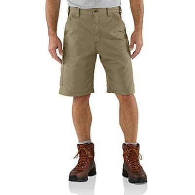Carhartt Men's Tan Canvas Work Short - front