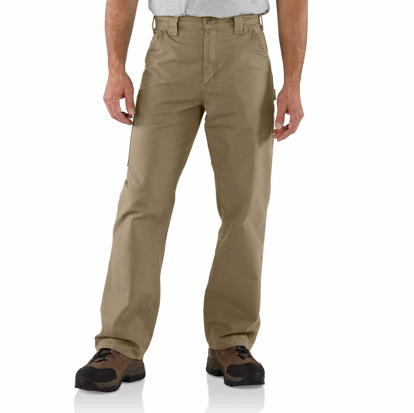 Picture of Canvas Work Dungaree in Dark Khaki