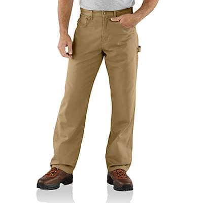 Carhartt Men's Golden Khaki Loose Fit Canvas Carpenter Pant - front