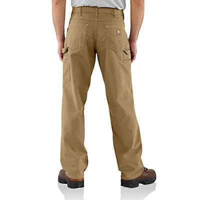 Carhartt  Golden Khaki Loose Fit Canvas Carpenter Pant - back
