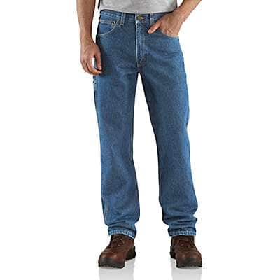 Carhartt Men's Darkstone Relaxed Fit Carpenter Jean - front