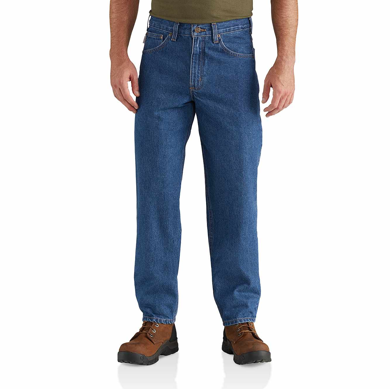 Picture of Relaxed Fit Tapered Leg Jean in Darkstone