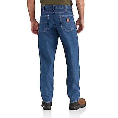 Carhartt Men's Darkstone Relaxed Fit Tapered Leg Jean - back