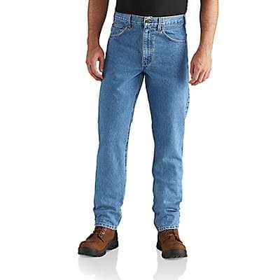 Carhartt Men's Stonewash Straight/Traditional-Fit Tapered-Leg Jean - front