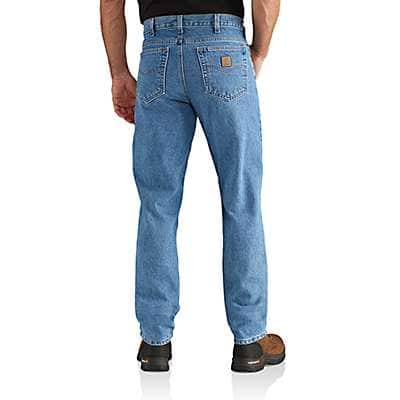 Carhartt Men's Stonewash Straight/Traditional-Fit Tapered-Leg Jean - back