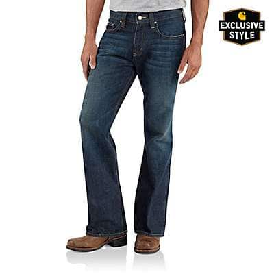 Carhartt Men's Dark Retro Series 1889® Relaxed-Fit Boot Cut Jean - front