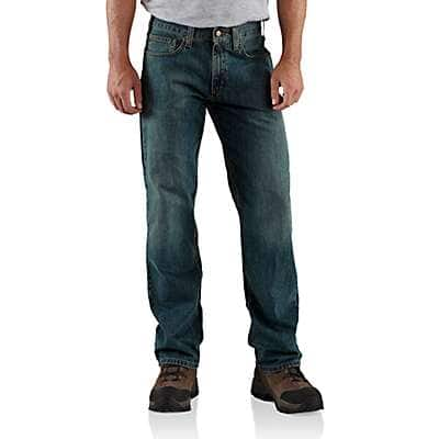 Carhartt Men's Weathered Blue Relaxed-Fit Straight-Leg Jean - front