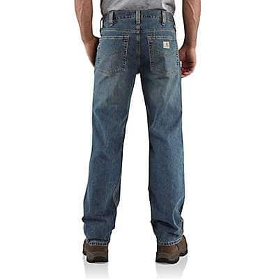 Carhartt Men's Weathered Blue Relaxed-Fit Straight-Leg Jean - back