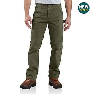 Carhartt Men's Army Green Washed Twill Relaxed Fit Work Pant - front