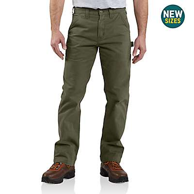 Carhartt  Army Green Washed Twill Relaxed Fit Work Pant - front