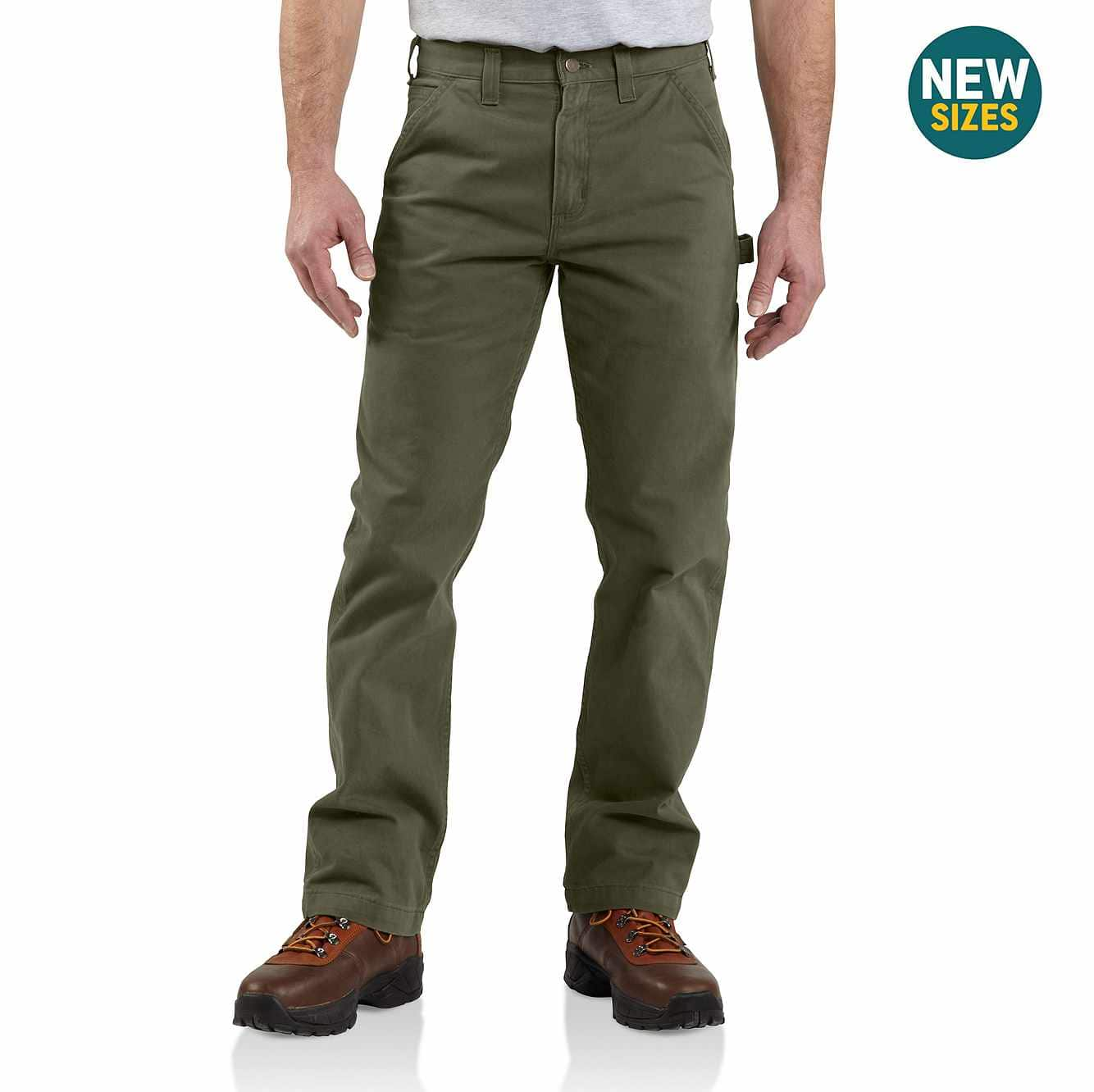 Picture of Washed Twill Relaxed Fit Work Pant in Army Green