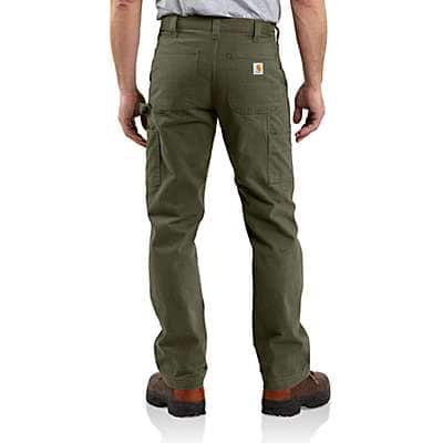Carhartt Men's Army Green Washed Twill Relaxed Fit Work Pant - back