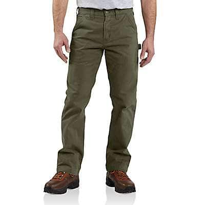 Carhartt Men's Army Green Relaxed Fit Twill Utility Work Pant