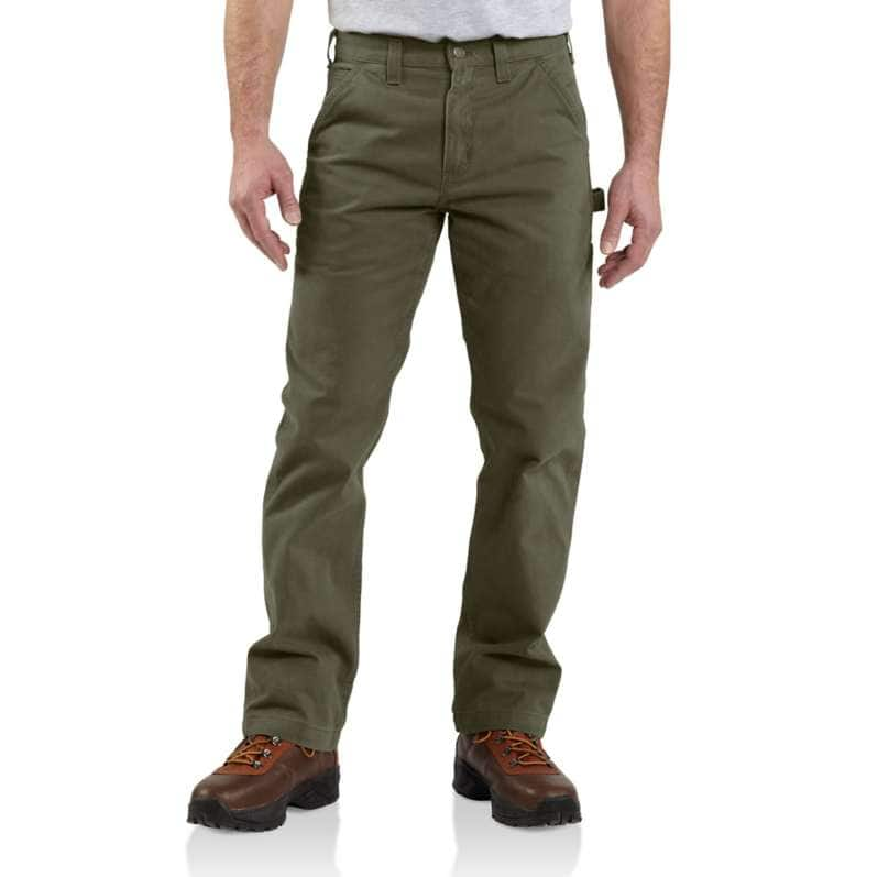 Carhartt  Army Green Relaxed Fit Twill Utility Work Pant