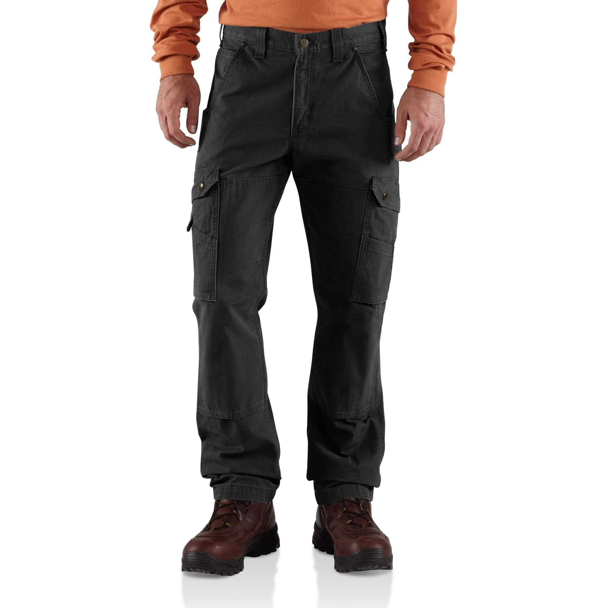 Men S Cotton Ripstop Relaxed Fit Double Front Cargo Work Pant Carhartt