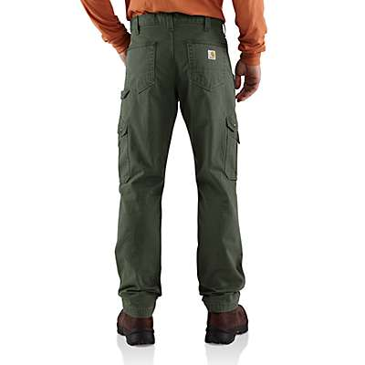 Carhartt Men's Black Cotton Ripstop Relaxed Fit Double-Front Cargo Work Pant - back