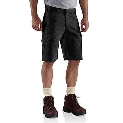 Carhartt  Black COTTON RIPSTOP CARGO WORK SHORT - front