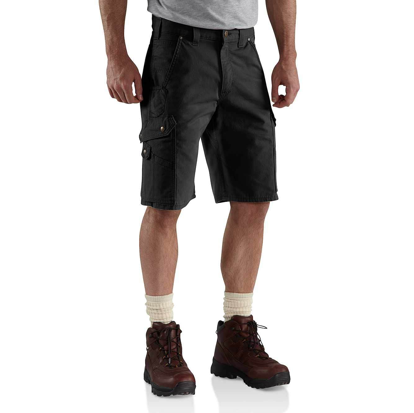 Picture of COTTON RIPSTOP CARGO WORK SHORT in Black