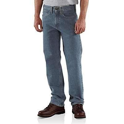 Carhartt Men's Deepstone Straight/Traditional-Fit Straight-Leg Jean - front