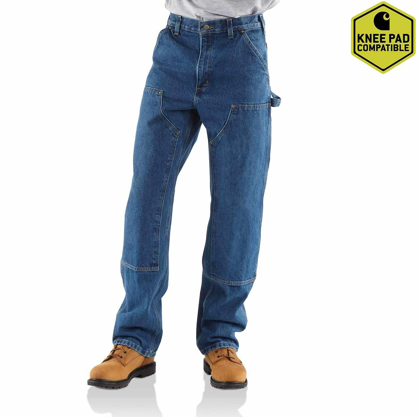 Men S Loose Original Fit Washed Logger Double Front Work Jean Carhartt