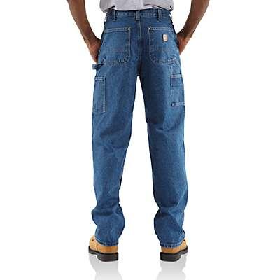 Carhartt Men's Darkstone Loose / Original-Fit Washed Logger Double-Front Work Jean - back