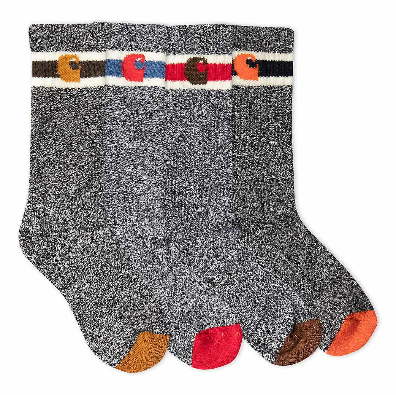 Picture of Camp Crew Sock 6 Pack in Assorted