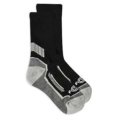 Carhartt Boys' Black Carhartt Force® Performance Crew Sock (3-Pack) - front