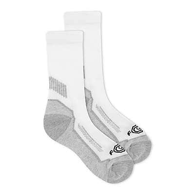 Carhartt Boys' White Carhartt Force® Performance Crew Sock 3 Pack - front