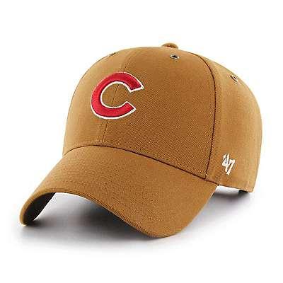 Carhartt Men's Carhartt Brown Chicago Cubs Carhartt x '47 MVP - front