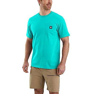 Carhartt Men's Black Hurley x Carhartt Men's T-Shirt - front