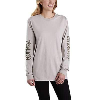 Carhartt Unisex Carhartt Brown Hurley x Carhartt Unisex Long-Sleeve T-Shirt - front